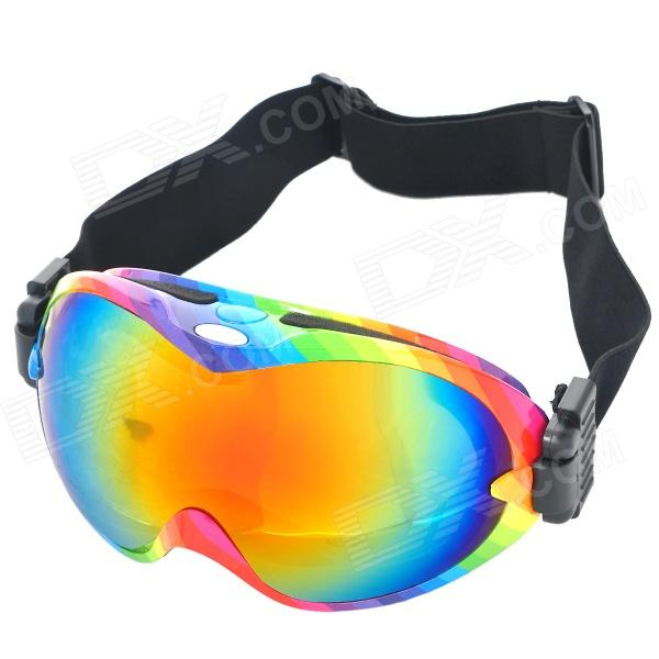 T815-26 Outdoor Sports Dual Layer Lens Skiing Goggles - Multi-Color Frame