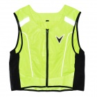 Body Protective Motorcycle Riding Vest w/ Reflective Stripe - Fluorescent Green (XL~XXL Size)