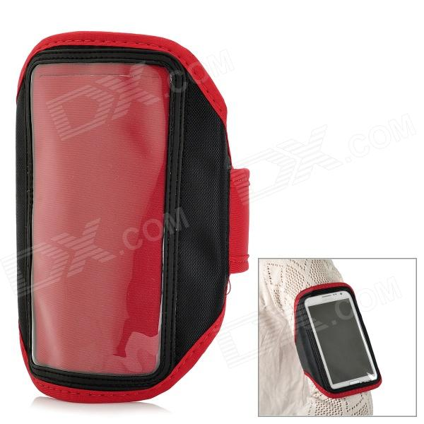 Outdoor Sports Arm Band for Samsung Galaxy Note 2 N7100 - Red sunshine sports velcro protective arm bag for samsung galaxy s5 i9600 red black