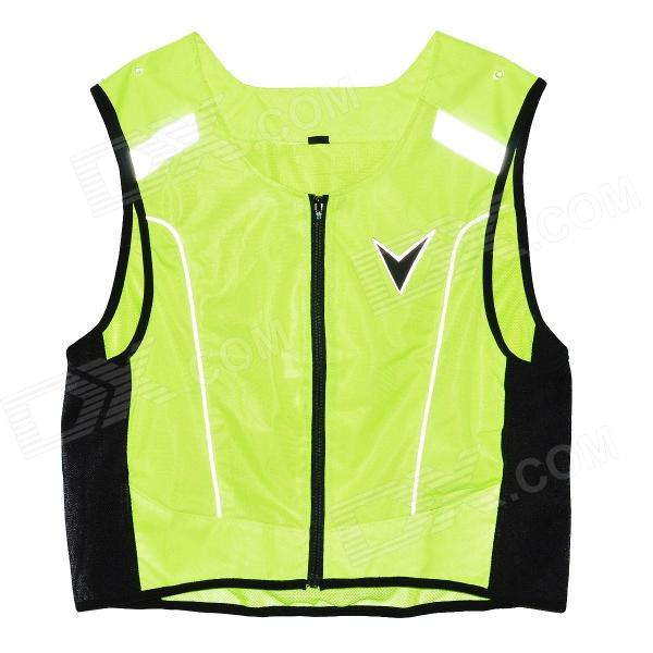 Body Protective Motorcycle Riding Vest w/ Reflective Stripe - Fluorescent Green (M~L Size)