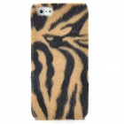 Soft Artificial Tiger Fur Cover Protective Plastic Back Case for Iphone 5 - Brown + Black
