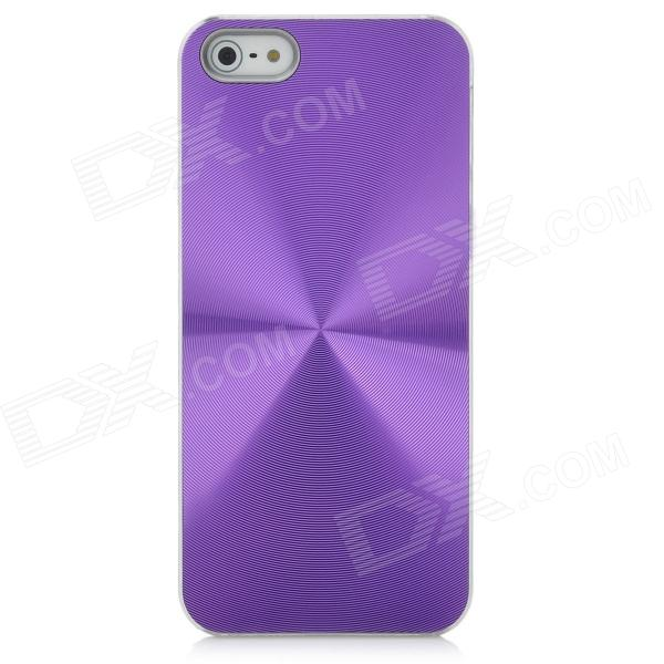 CD Striae Protective PC Hard Back Case Cover for Iphone 5 - Purple protective heart shape rhinestone decoration back case for iphone 5 brown
