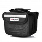 ACACIA Cycling Bicycle Bike Front Tube Bag w/ Rain Cover - Black