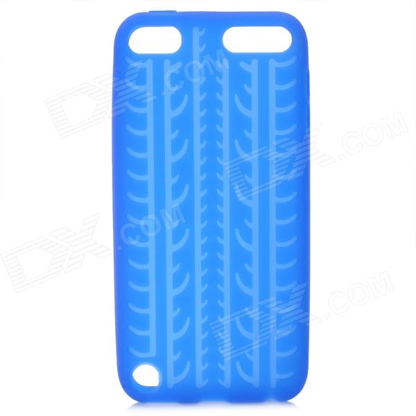 protective soft silicone back case for ipod touch 5 orange Antiskid Tread Protective Silicone Soft Back Case for Ipod Touch 5 - Deep Blue
