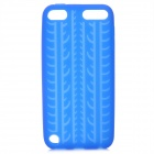 Antiskid Tread Protective Silicone Soft Back Case for Ipod Touch 5 - Deep Blue