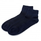 Fashion Man's Pure Cotton Stockings - Deep Blue (Pair)