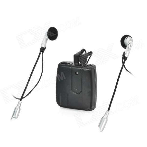 Motorcycle Helmet Headset Interphone 2-Way Intercom - Black (2 x AAA) lexin 2pcs max2 motorcycle bluetooth helmet intercommunicador wireless bt moto waterproof interphone intercom headsets