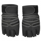 XLY202 Outdoor Sports Anti-Slip Half-Finger Gloves - Black (Size L)