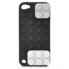 Blocks Style Protective Silicone Back Case for iPod Touch 5 - Black + White + Grey