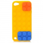 Blocks Stil Protective Silicone Case für iPod Touch 5 - Gelb + Blau + Orange