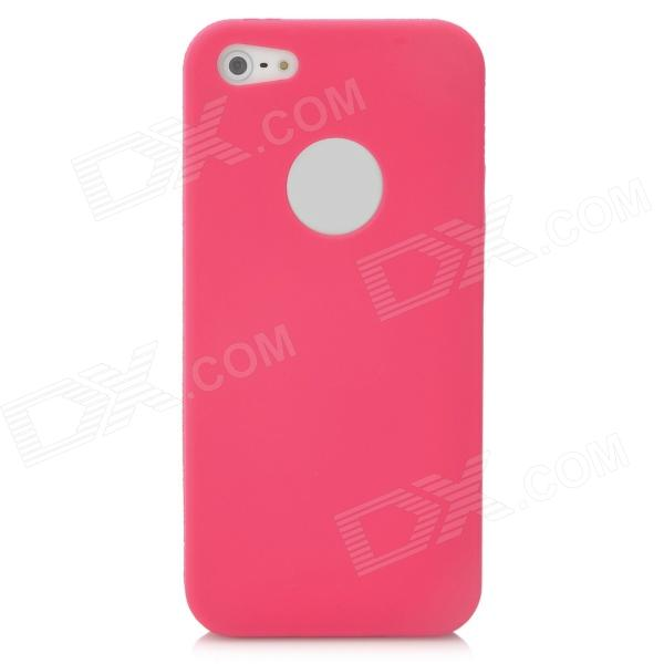 Ultra-Thin Protective Silicone Soft Back Case for Iphone 5 - Deep Pink hat prince 0 3mm ultra thin protective pc back case for iphone 6 plus 5 5 deep pink