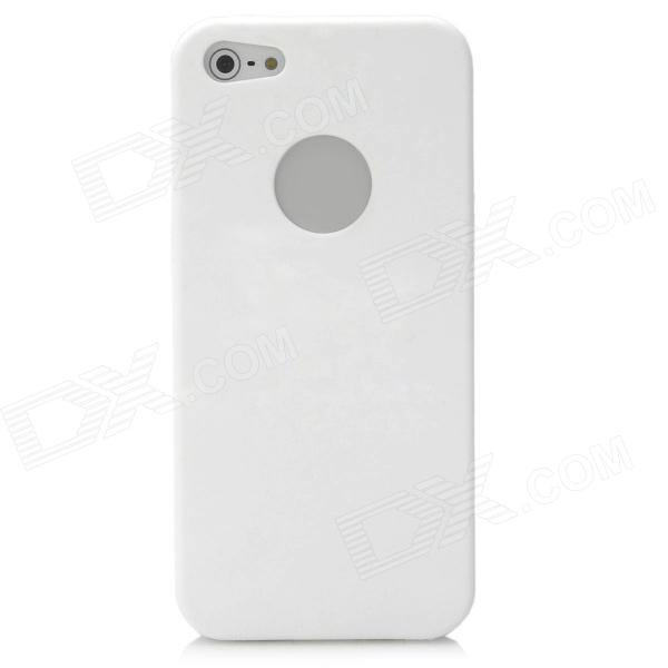 Ultra-Thin Protective Silicone Soft Back Case for Iphone 5 - White protective silicone soft back case cover for iphone 5 white