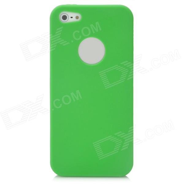 Ultra-Thin Protective Silicone Soft Back Case for Iphone 5 - Green protective silicone soft back case cover for iphone 5 white