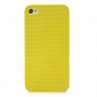 Protective Stainless Steel Hole Net Hard Back Cover Case for Iphone 4 / 4S - Yellow