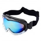 Fashion PC Objektiv Augenschutz Ski Brillen / Goggles - Black + Silver