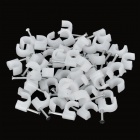 6mm U-Style Wall Mount Screws Anchors - White (50 PCS)
