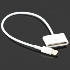 8-Pin Lightning Male to 30-Pin Female Adapter Cable - White (16.5cm)