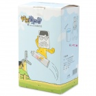 Cute Guitar Boy Pattern ABS Toothbrush Holder w/ Dust Cover Cup - Blue
