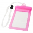 Stylish Waterproof Bag w/ Neck Strap for Iphone 5 - Pink