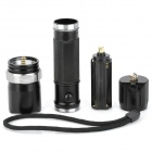 New-300 270lm 3-Mode White Light Zooming Flashlight - Black (1 x 18650 / 3 x AAA)