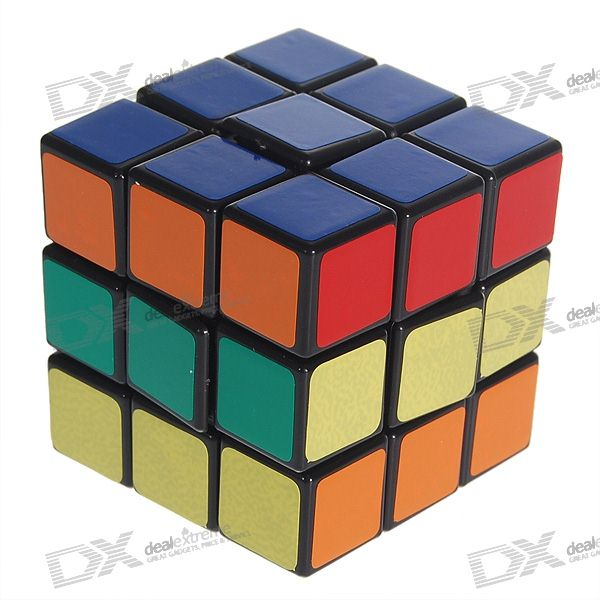 DIY 3x3x3 Brain Teaser Magic IQ Cube Complete Kit (Black) mini 3x3x3 brain teaser magic iq cube keychain