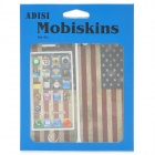 American Flag Pattern Protective Front + Back Skin Protector Stickers Set for Iphone 5 - White + Red