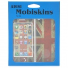 Union Jack Pattern Protective Front + Back Skin Protector Stickers Set for Iphone 5 - White + Red