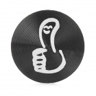 Thumb Up Style Aluminum Alloy Home Button Sticker for Iphone / Ipod / Ipad - Black