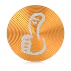 Thumb Up Style Aluminum Alloy Home Button Sticker for Iphone / Ipod / Ipad - Golden