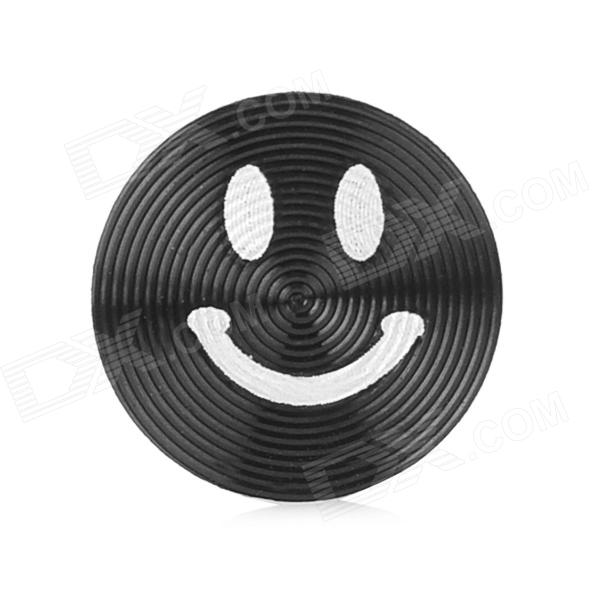 Smiley Face Style Aluminum Alloy Home Button Sticker for Iphone / Ipod / Ipad - Black процессор other e5450cpu co 771 3 0g l5420 e5440