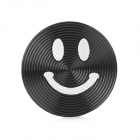 Smiley Face Style Aluminum Alloy Home Button Sticker for Iphone / Ipod / Ipad - Black