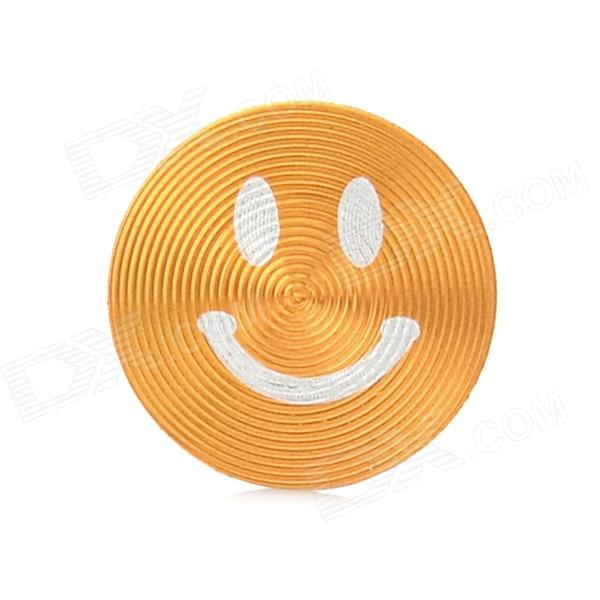 цены на Smiley Face Style Aluminum Alloy Home Button Sticker for Iphone / Ipod / Ipad - Golden