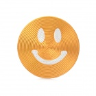 Smiley Face Style Aluminum Alloy Home Button Sticker for Iphone / Ipod / Ipad - Golden