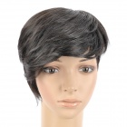 M003 2# Fashion Man's Fleeciness Short Natural Straight Hair Wig - Black