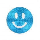 Smiley Face Style Aluminum Alloy Home Button Sticker for Iphone / Ipod / Ipad - Blue