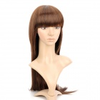 590 2/30 Fashion Lady's Straight Bangs Long Natural Straight Hair Wig - Deep Brown