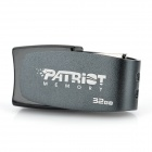 Patriot Cool Disk U-Disk USB 2.0 Flash Drive - Deep Grey + Black (32GB)