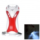 RD-311 Multi-Function 5-LED 2-Mode Dynamo Flashlight w/ FM / Siren / USB Power Outlet - Red + White