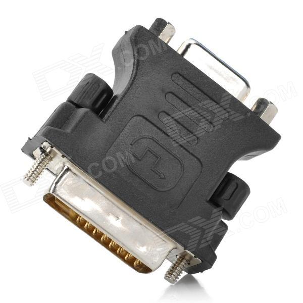 DVI 24+5 Male to VGA Female Converter / Adapter - Black dvi 24 5 male to vga female converter adapter black