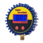 "1.5"" LCD Heavy Duty Digital Tire Gauge For Car - Blue + Yellow (2 x AAA)"