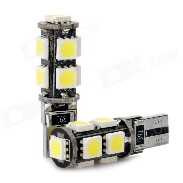 CANBUS T10 1.8W 135lm 9-SMD 5050 LED White Light Car Clearance / Door Lamp (2 PCS / 12V) canbus t10 1 8w 135lm 9 smd 5050 led white light car clearance door lamp 2 pcs 12v
