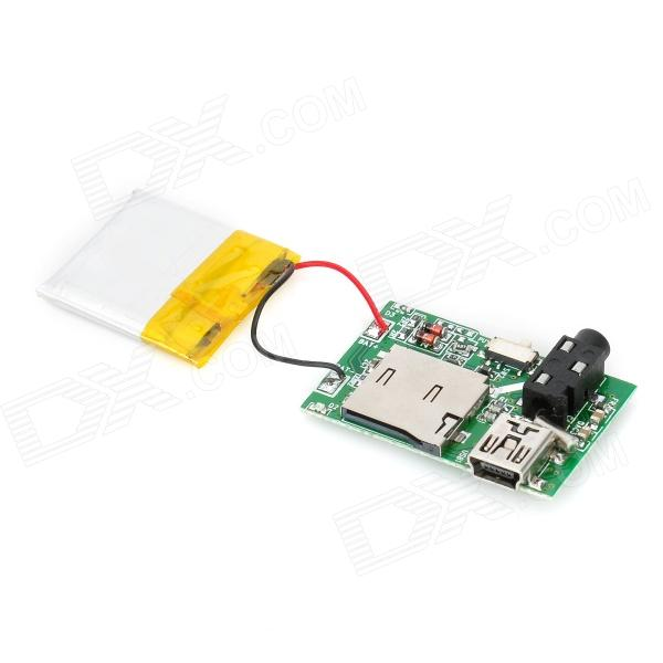 MP3 Module Board w / Card Slot / Battery - Green