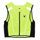 Body Protective Motorcycle Riding Vest w/ Reflective Stripe - Bright Yellow (XXXL~XXXXL Size)
