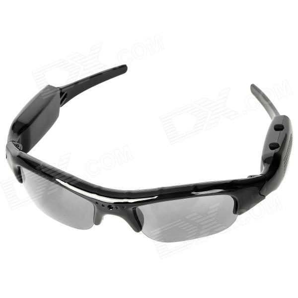 Creative Sunglasses 2.0MP Video Recorder Camera w/ SD / Mini USB / Mic - Black Frame