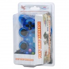 USB Wired Vibration Game Controller - Translucent Blue (180cm-Cable)