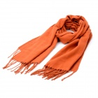 South Korea Style Blended Fabric Long Scarf Shawl - Red Orange