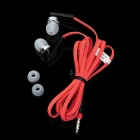 BYZ-S500 3.5mm Plug In-Ear Earphone w/ Microphone - Red