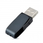 Patriot Cool Disk U-Disk USB 2.0 Flash Drive - Deep Grey + Black (16GB)