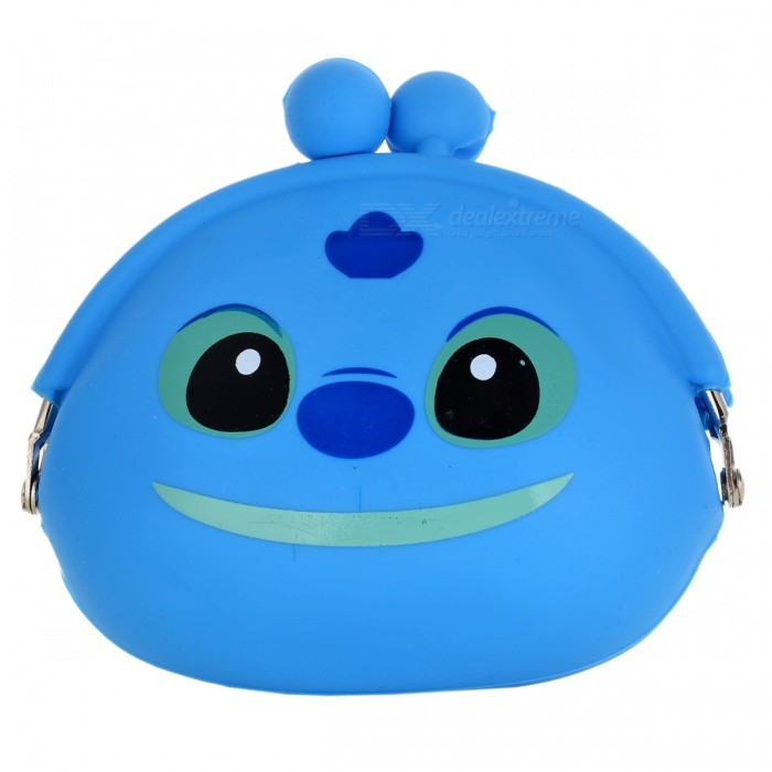 Multi-Function Cute Soft Silicone Wallet Bag - Blue
