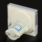 DC 0~1mA Square Panel Mounting Analog Amp Current Meter Ammeter - White